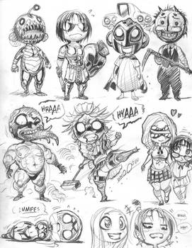 EMPOWERED assorted cast, 'chibi de Pins' style