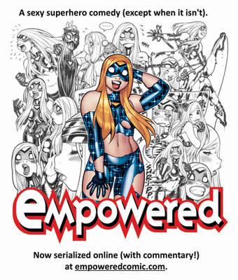 EMPOWERED webcomic serialization promo illo! by AdamWarren