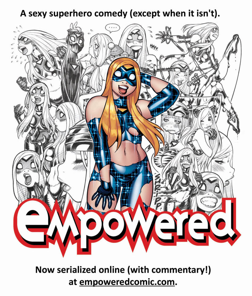 EMPOWERED webcomic serialization promo illo! by AdamWarren