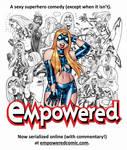 EMPOWERED webcomic serialization promo illo!