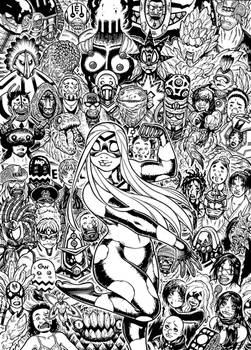 Cover inks for EMPOWERED DELUXE vol.3