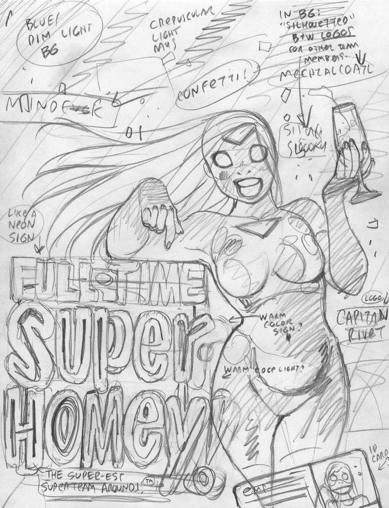EMPOWERED vol.10 cover rough by AdamWarren