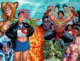 GEN13 colors for WILDSTORM 25th ANNIVERSARY book