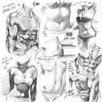 Life drawings from photoreference, 2018-02-09