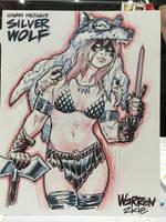 OC con sketch from Motor City Comic-Con by AdamWarren