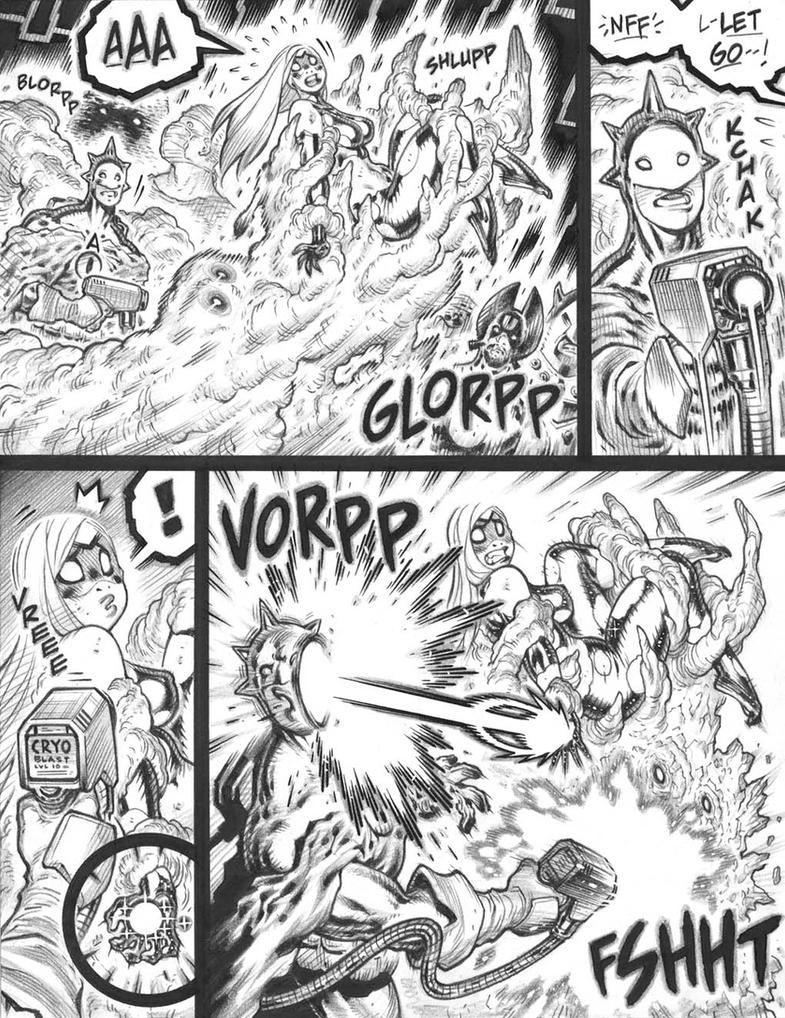 'Glorppy' fight scene page from EMPOWERED vol.11 by AdamWarren