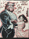 BEAUTY AND THE BEAST con sketch from SDCC