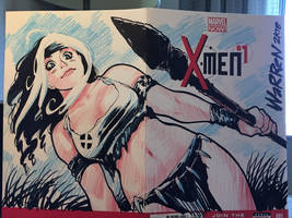 X-MEN's Savage Land Rogue con sketch from SDCC by AdamWarren