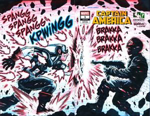 CAPTAIN AMERICA sketch cover for Hero Initiative