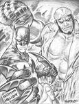 BATMAN and HELLBOY sketch