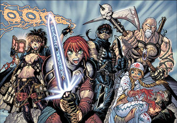 PSM fantasy RPG illo by AdamWarren