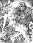 SWAMP THING and ABBY sketch