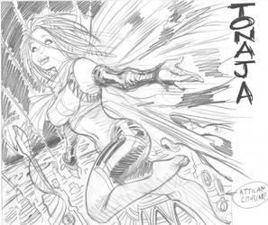 Marvel's TONAJA, rough by AdamWarren