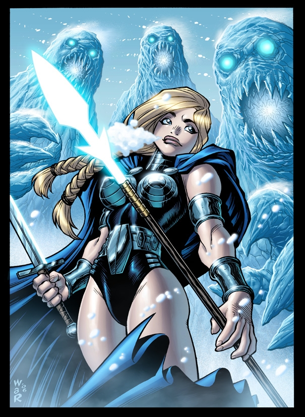 Marvel's VALKYRIE, in color