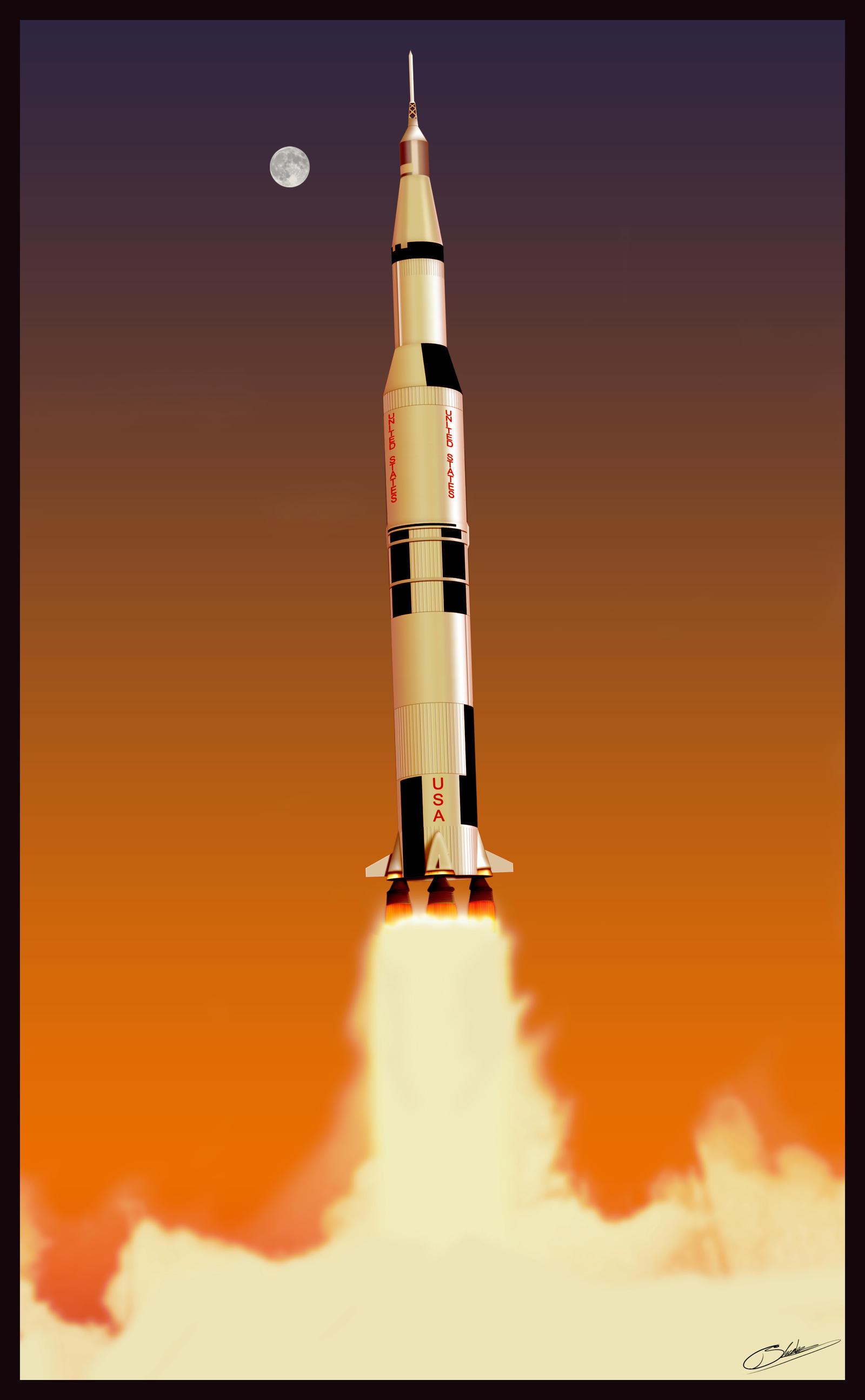 Saturn V Rocket V1 By Firmato On Deviantart