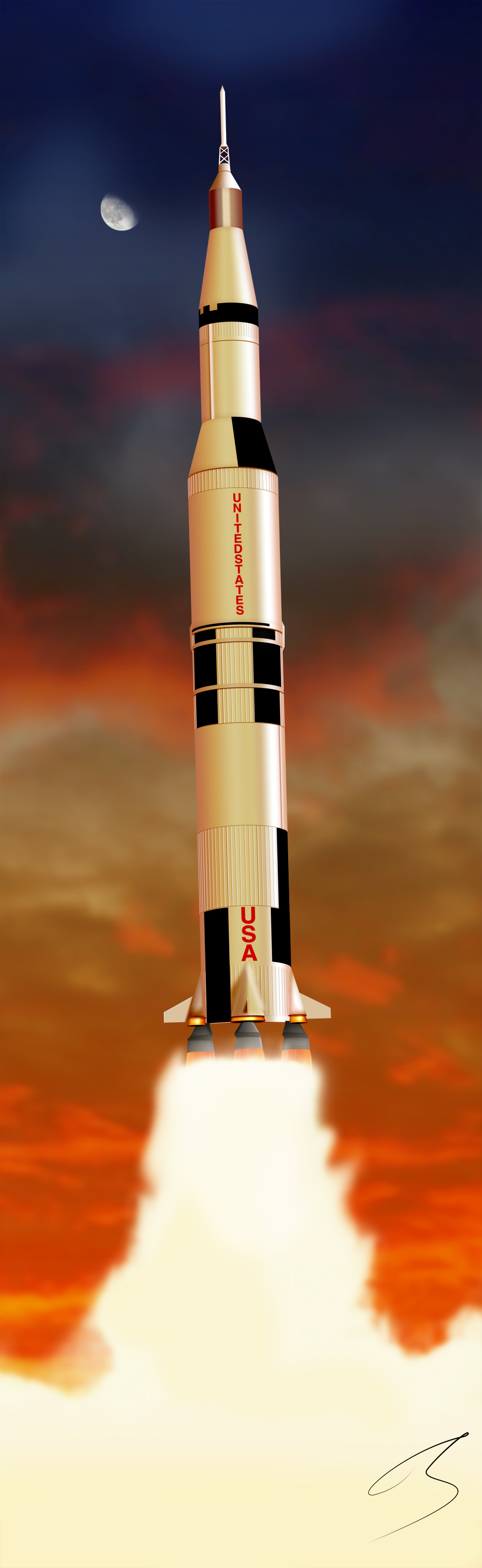 saturn v 2011 by firmato on deviantart rh deviantart com Phases of Saturn V Flight Saturn V Launch