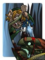 Link vs Ganon by IamOSI