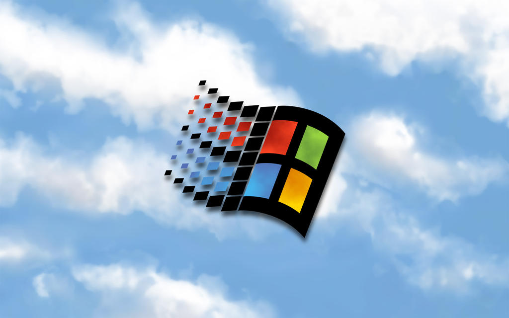 windows 95 logo wallpaper by docacola on deviantart