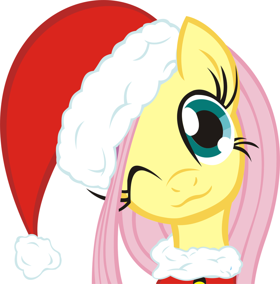 Merry Christmas! From Fluttershy :) by Phoenix0117