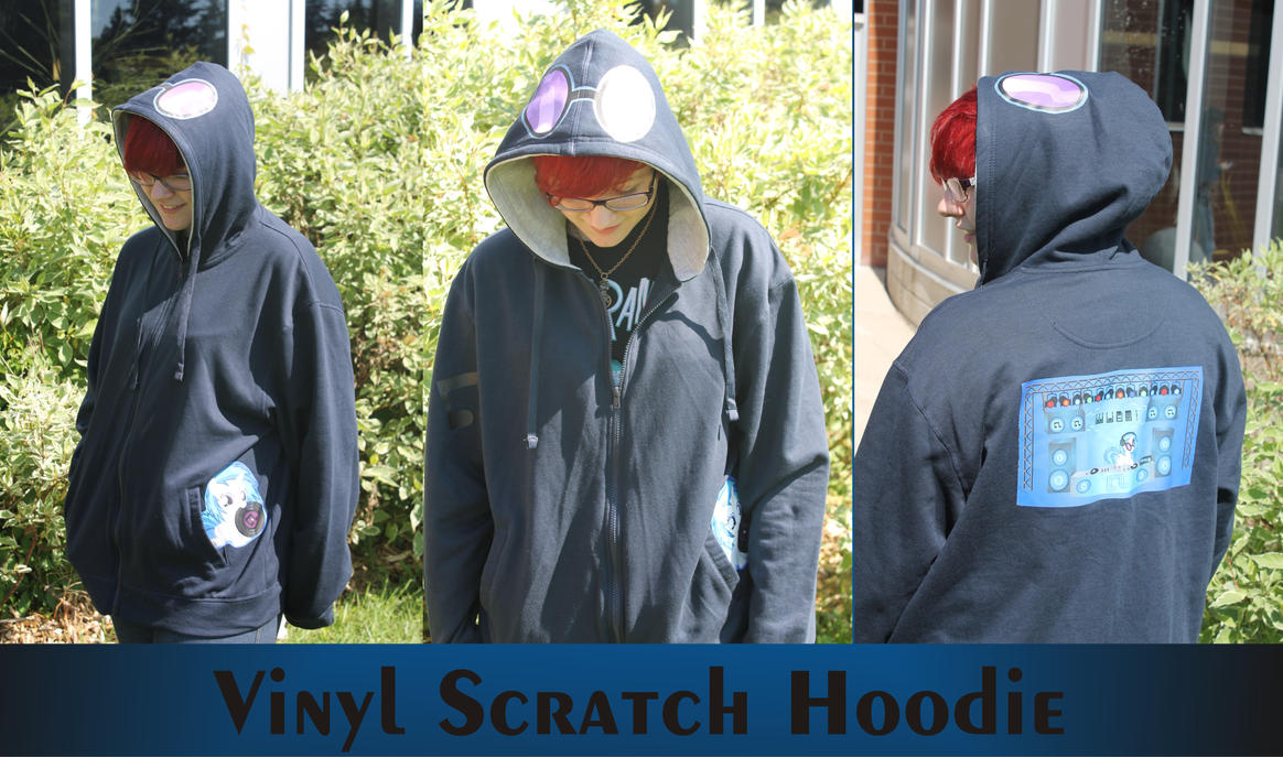 Vinyl scratch hoodie