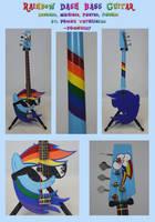 Rainbow Dash Bass Guitar by Phoenix0117