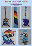 Rainbow Dash Bass Guitar