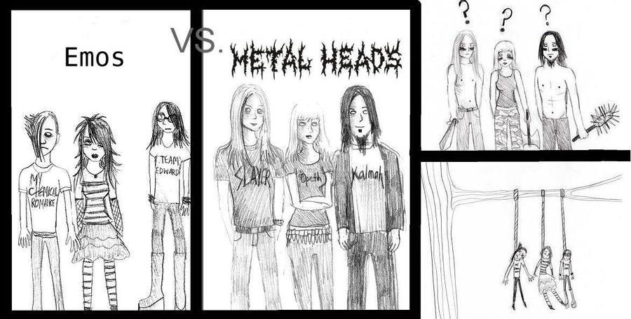 Emo Vs Metal...........?
