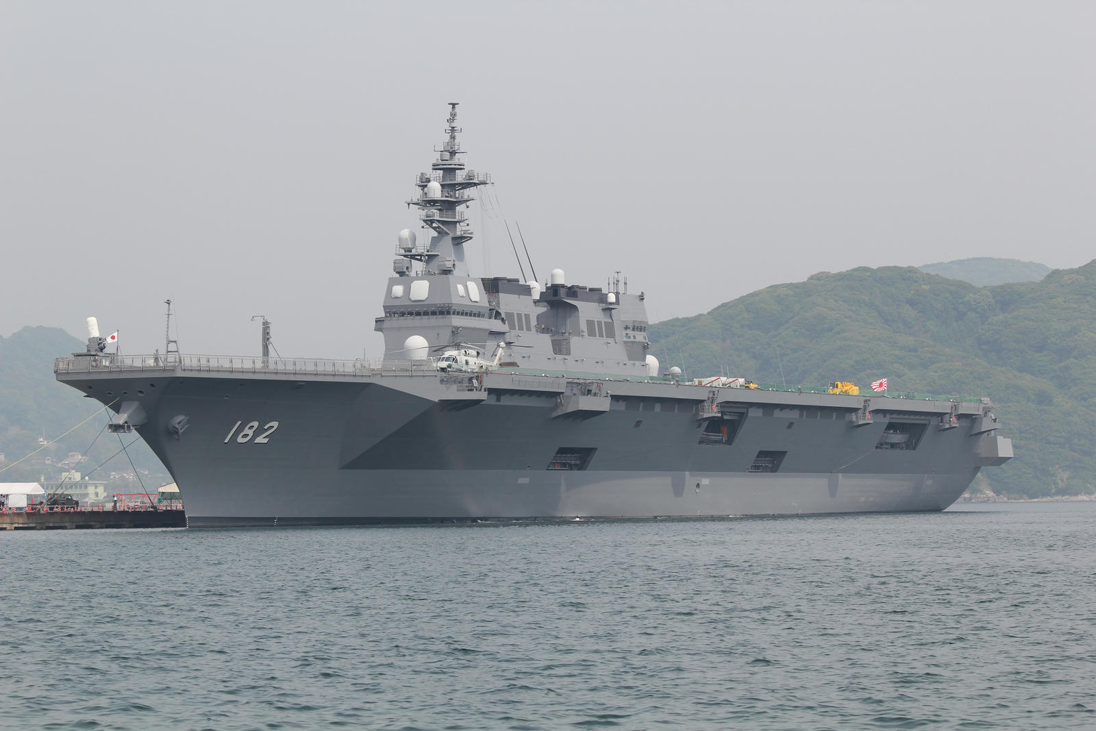 Hyuga class helicopter destroyer DDH182 Ise by DDmurasame