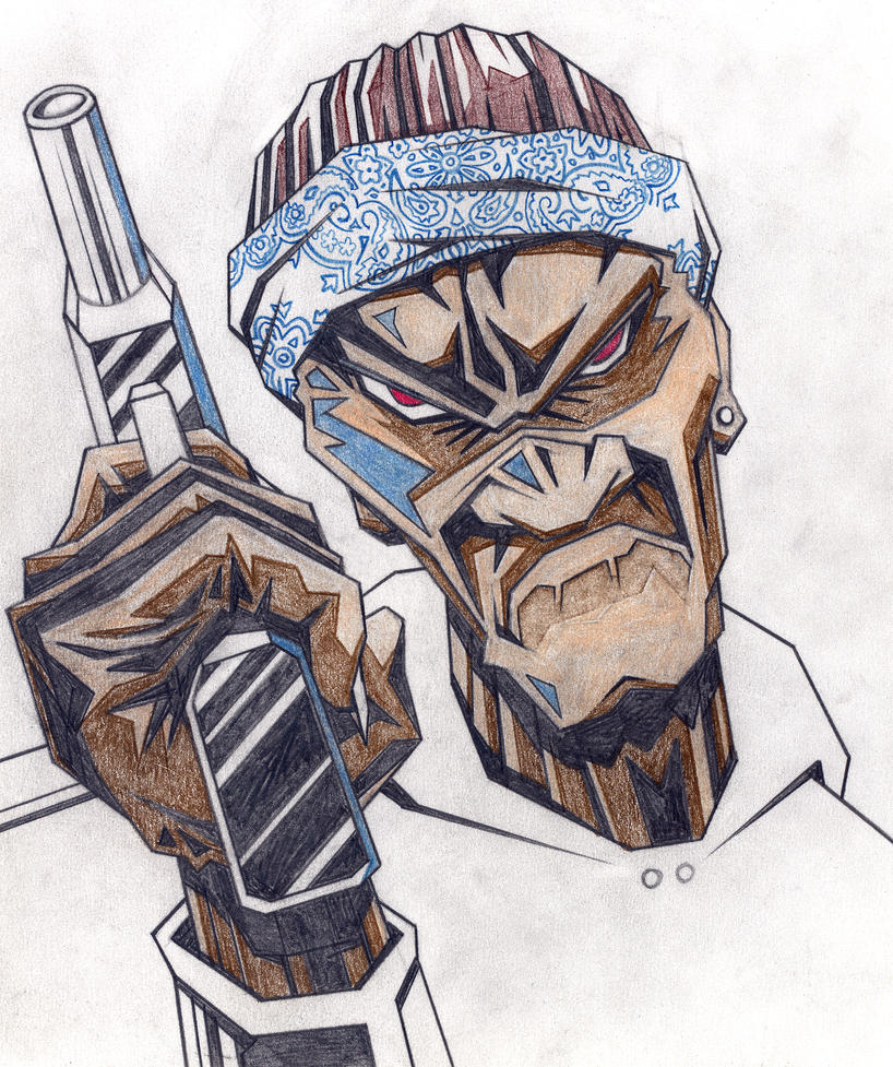 Crip by phuckfeldt on deviantart - Blood gang cartoon ...