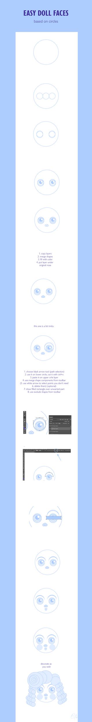 Doll face tutorial by Kinkostfur