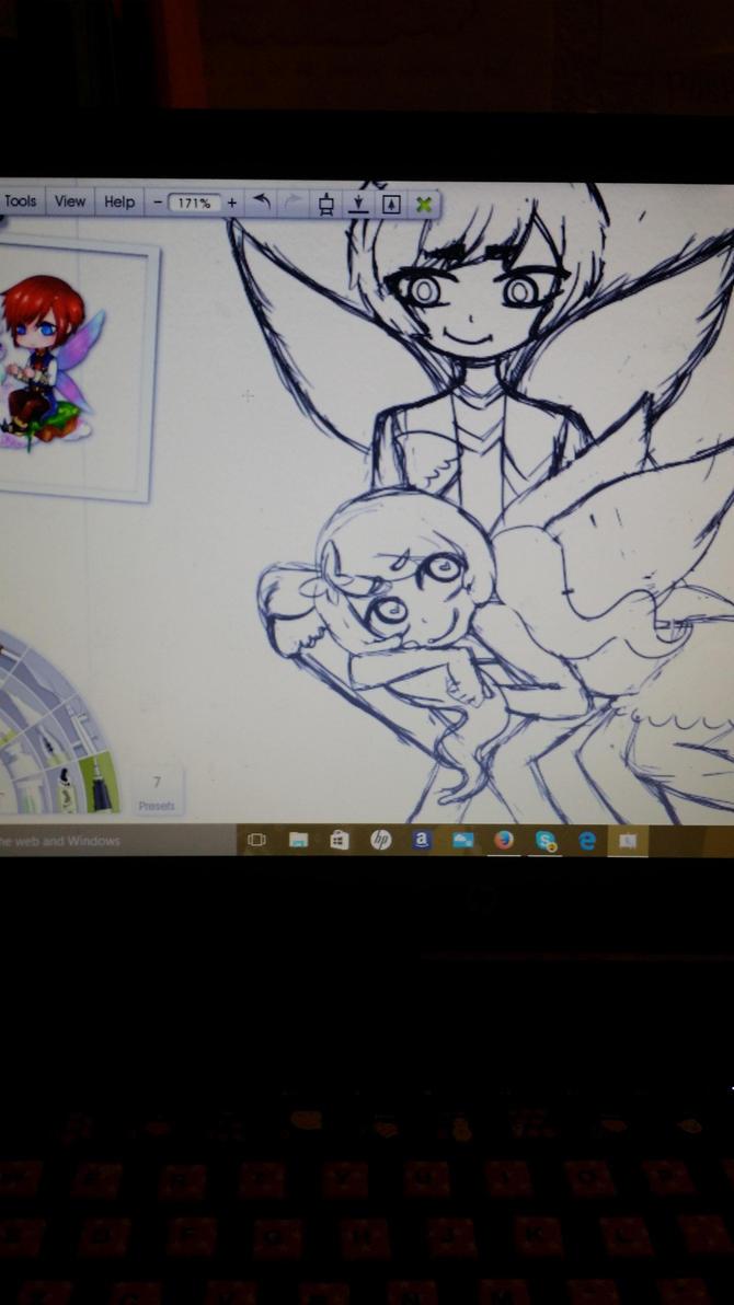 Fairy couple sketch by Mintiru