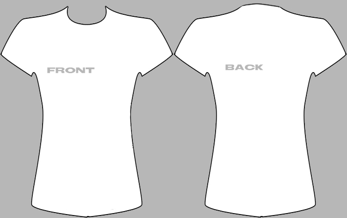 Female T-Shirt Template by drkdestiny