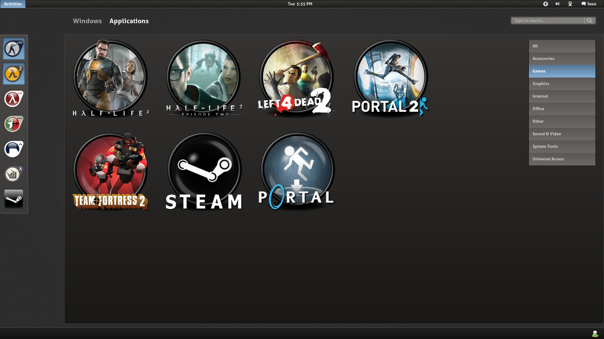 Steam Desktop by half-left