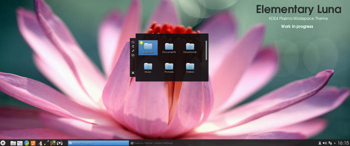 KDE4 - Elemetary Luna - Preview