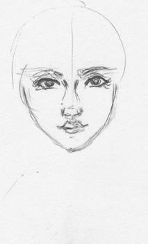 Maiden Face Sketch