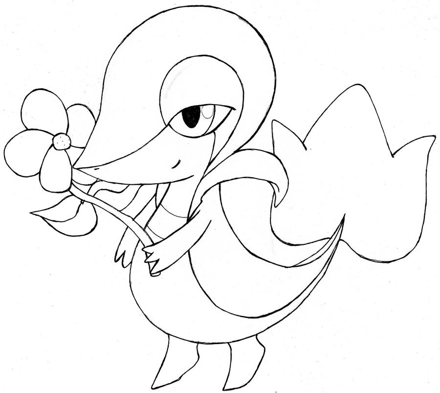 pokemon coloring pages servine pictures - photo#23