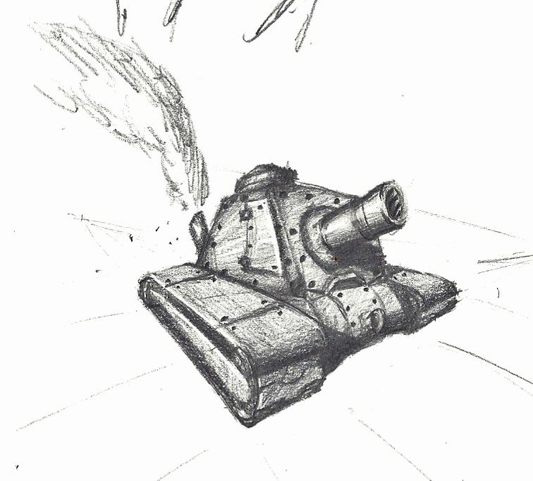 Mini steampunk tank by AlonDiviX