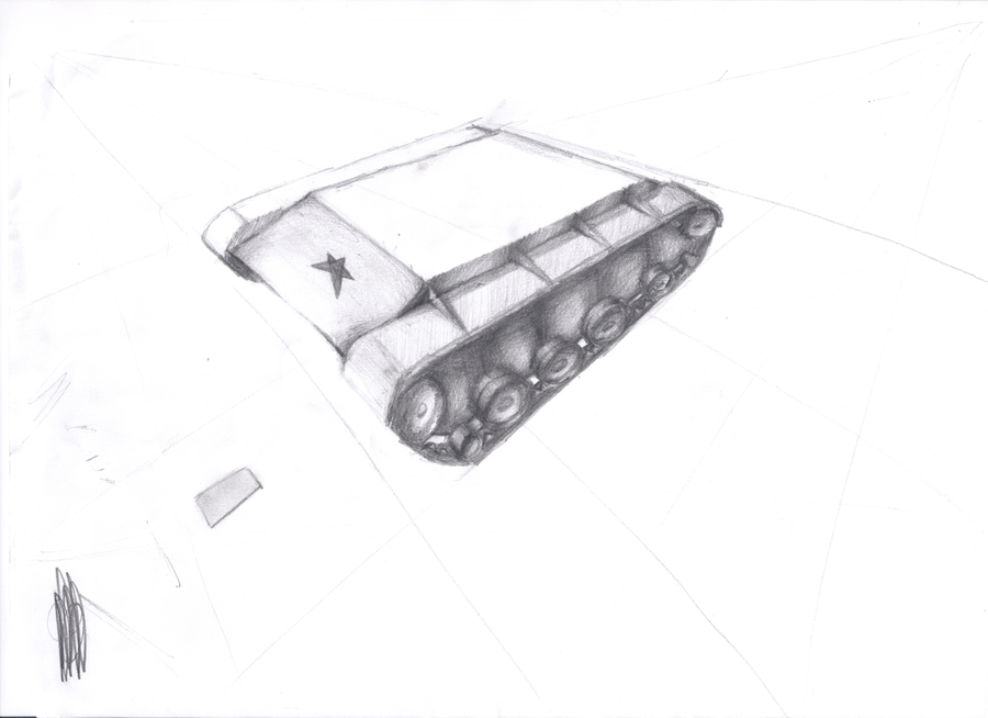Wip Russian tank sketch by AlonDiviX