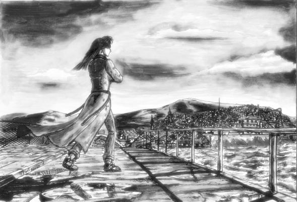 Woman at Bridge by Relugus