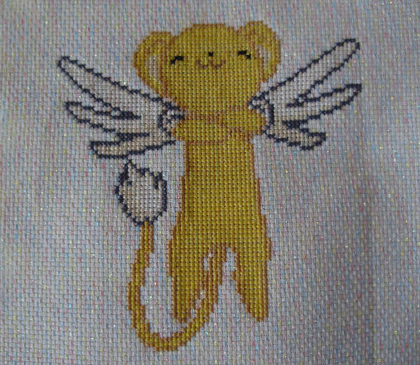 Kero-chan Cross stitch by Awenmir