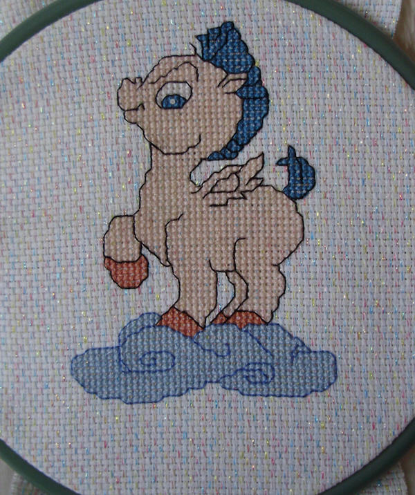 Baby Pegasus Cross Stitch by Awenmir