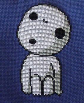 Kodama cross stitch