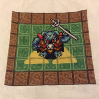 Ganon LoZ:ALTTP charity square by Awenmir