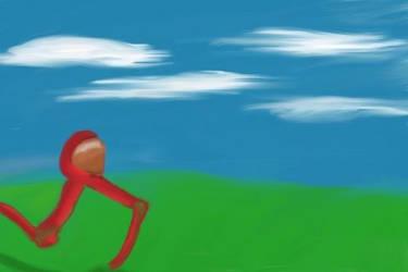 Finger Paint 2 - Red Walker by TTVoid