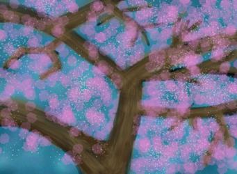 Finger Paint 5 - Cherry Tree by TTVoid