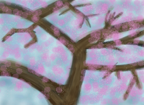 Finger Paint 5 - Cherry Tree