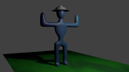 3D Person with Hat by TTVoid