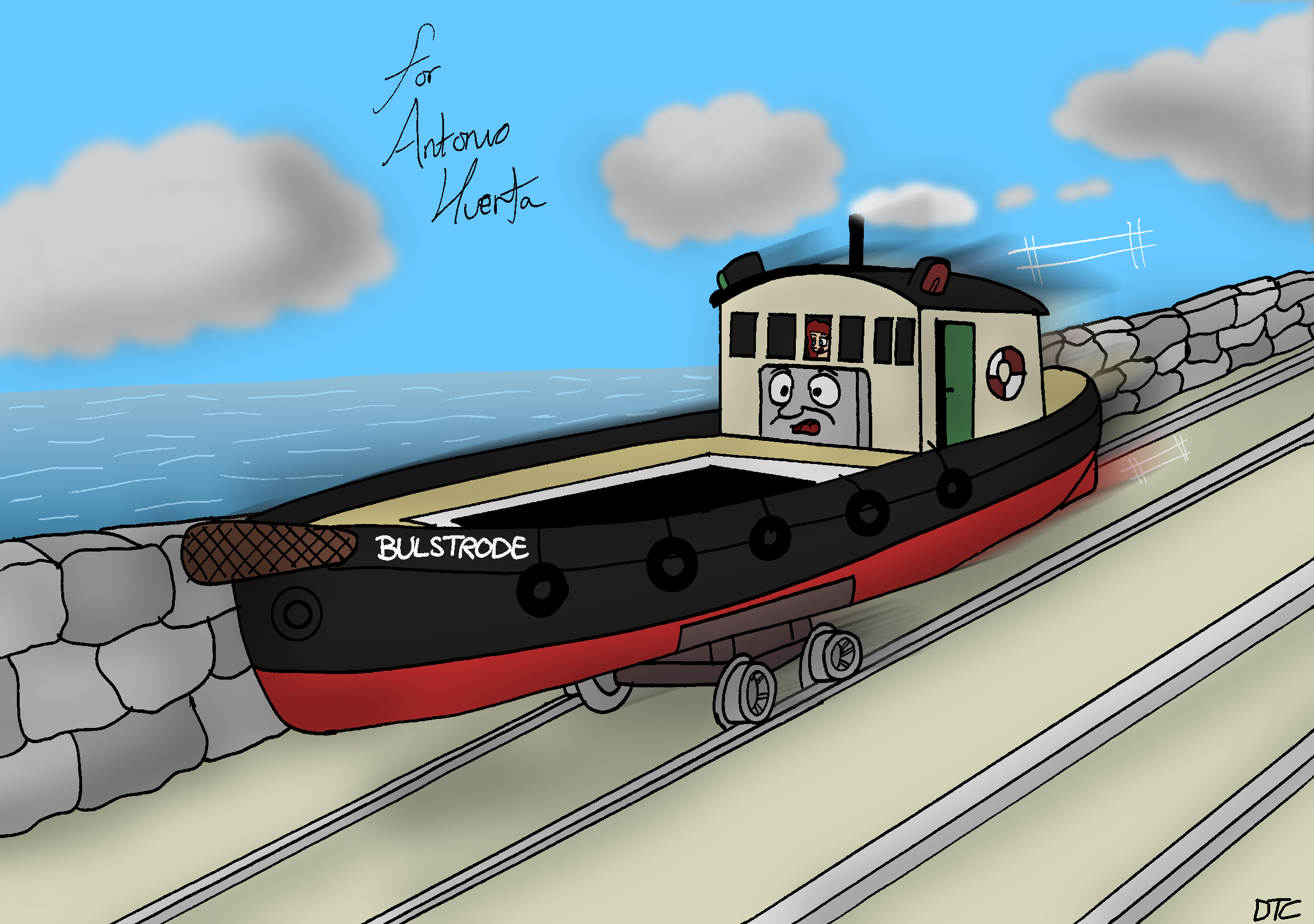 Ariel and Bulstrode the Rail-Barge by AntonioAlexisHuerta on