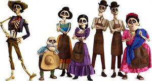 Coco Skeleton Family by AntonioAlexisHuerta