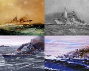 Sinking of Bismarck by AntonioAlexisHuerta